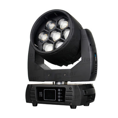 Nightclub Osram Moving Head LED Cuci Lampu Zoom 7 * 40W Dengan Pemetaan Pixel