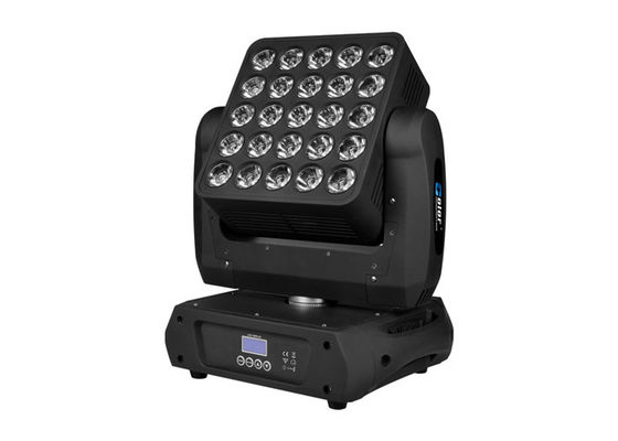 25 * 10W RGBW Cree LED Stage Lighting Dengan Artnet Kontrol Moving Kepala Wash Untuk Theater